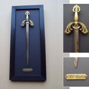 El Cid Sword Letter Opener Framed Wall Display